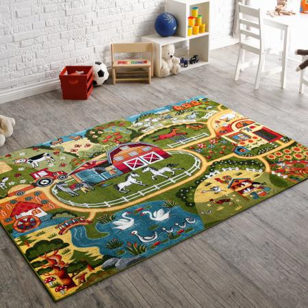 Covor Pentru Copii, Kolibri Ferma 11287, Multicolor, 160x230 cm, 2300 gr/mp [1]