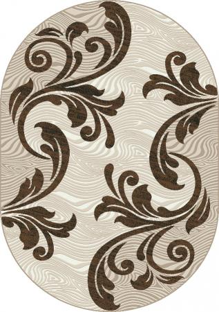 Covor Modern, Cappuccino 16025, Oval, 200x300 cm, 1700 gr/mp [0]