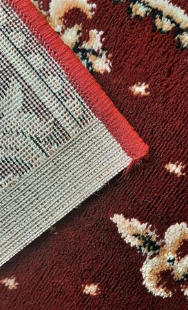 Covor Lotos, Model Bisericesc, 15032-V, Rosu, Oval, 100x200 cm, 1800 gr/mp3