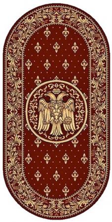 Covor Lotos, Model Bisericesc, 15032-V, Rosu, Oval, 100x200 cm, 1800 gr/mp0