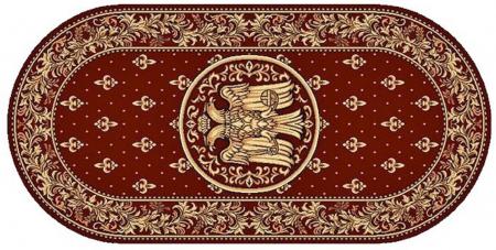 Covor Lotos, Model Bisericesc, 15032-V, Rosu, Oval, 100x200 cm, 1800 gr/mp1