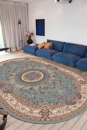 Covor Clasic, Cardinal 25501-410, Bleu, Oval, 100x100 cm, 2100 gr/mp3