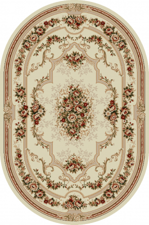 Covor Clasic, Lotos 574, Crem / Bej, Oval, 80x150 cm, 1800 gr/mp0