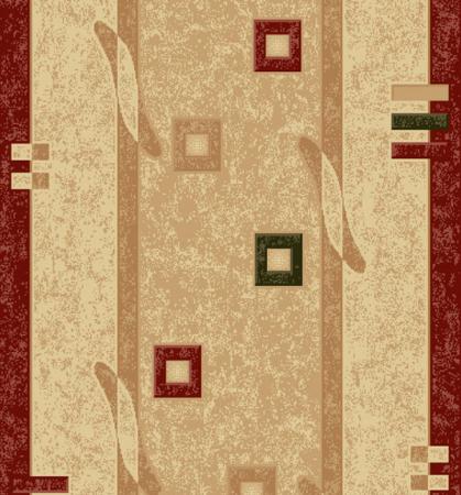 Traversa Covor, Lotos 579, Crem / Rosu, 1800 gr/mp2