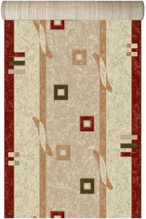 Traversa Covor, Lotos 579, Crem / Rosu, 1800 gr/mp1