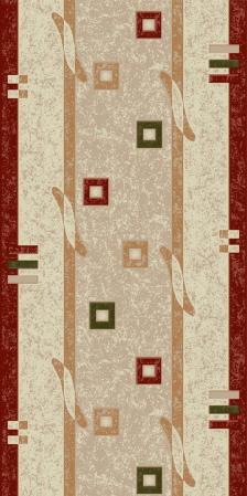 Traversa Covor, Lotos 579, Crem / Rosu, 1800 gr/mp0