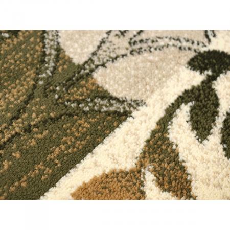 Covor Modern, Lotos 1521, Crem/Verde, 80x150 cm, 1800 gr/mp4