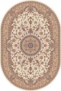 Covor Clasic, Cardinal 25501-100, Bej, Oval, 80x150 cm, 2300 gr/mp0