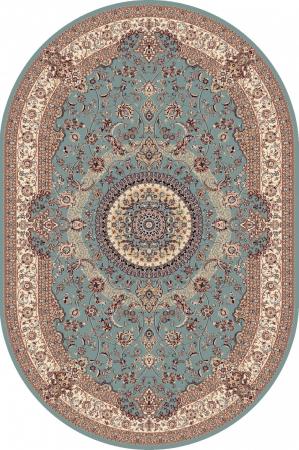 Covor Clasic, Cardinal 25501-410, Bleu, Oval, 100x100 cm, 2100 gr/mp0