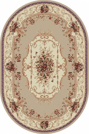 Covor Clasic, Lotos 507, Bej / Crem, Oval, 150x230 cm, 1800 gr/mp0