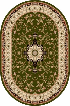 Covor Clasic, Lotos 523, Verde, Oval, 150x230 cm, 1800 gr/mp [0]