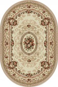 Covor Clasic, Lotos 568, Crem /Bej, Oval, 100x200 cm, 1800 gr/mp0