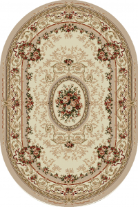 Covor Clasic, Lotos 568, Crem / Bej, Oval, 200x300 cm, 1800 gr/mp0