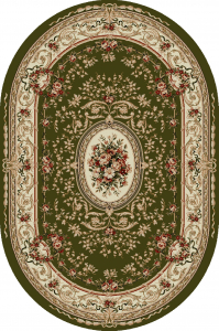 Covor Clasic, Lotos 568, Verde, Oval, 200x300 cm, 1800 gr/mp0