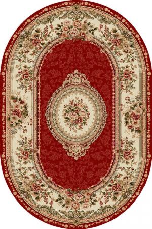 Covor Clasic, Lotos 571, Rosu, Oval, 150x230 cm, 1800 gr/mp0
