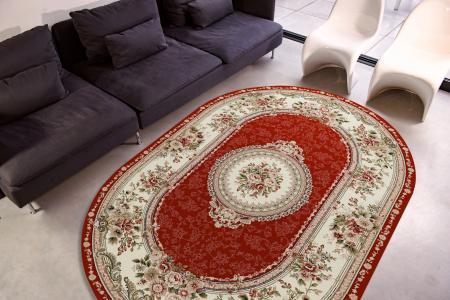 Covor Clasic, Lotos 571, Rosu, Oval, 150x230 cm, 1800 gr/mp1