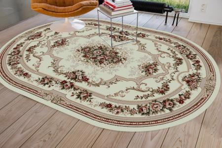 Covor Clasic, Lotos 574, Crem / Bej, Oval, 250x350 cm, 1800 gr/mp1