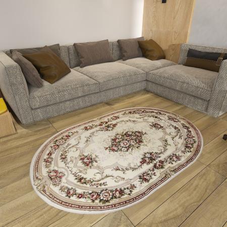 Covor Clasic, Lotos 574, Crem / Bej, Oval, 300x400 cm, 1800 gr/mp [6]