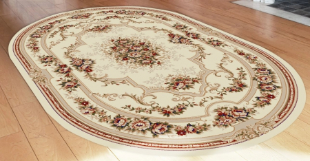 Covor Clasic, Lotos 574, Crem / Bej, Oval, 80x150 cm, 1800 gr/mp3