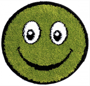 Covor Fantasy Smile, 12003-130, Rotund, Verde, 67x67 cm0