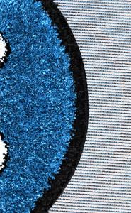 Covor Fantasy Smile, 12003-140, Rotund, Albastru, 67x67 cm1