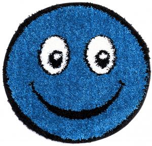 Covor Fantasy Smile, 12003-140, Rotund, Albastru, 67x67 cm0