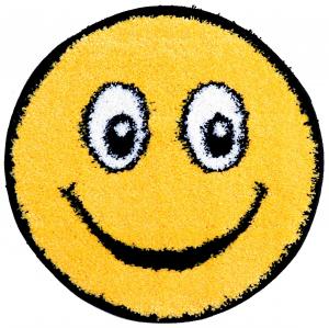 Covor Fantasy Smile, 12003-150, Rotund, Galben, 67x67 cm0