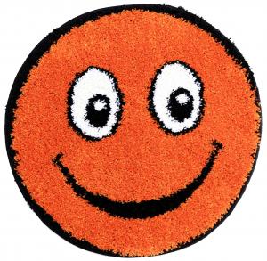 Covor Fantasy Smile, 12003-160, Rotund, Portocaliu, 67x67 cm0