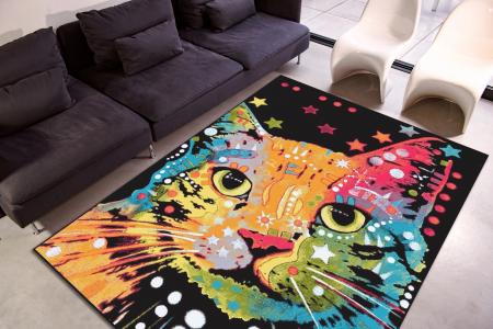 Covor Kolibri Pisica 11011, Multicolor, 80x150 cm, 2300 gr/mp [1]