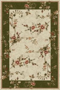 Covor Lotos 1517, Bej/Verde, 50x80 cm, 1800 gr/mp0