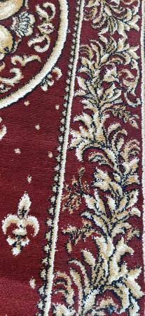 Covor Lotos, Model Bisericesc, 15032, Oval, Rosu, 200x300 cm, 1800 gr/mp3