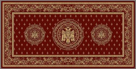 Covor Lotos, Model Bisericesc, 15032, Rosu, 250x500 cm, 1800 gr/mp0