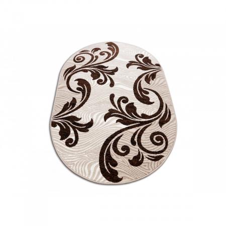 Covor Modern, Cappuccino 16025, Oval, 200x300 cm, 1700 gr/mp [1]