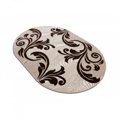 Covor Modern, Cappuccino 16025, Oval, 200x300 cm, 1700 gr/mp [2]