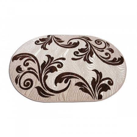 Covor Modern, Cappuccino 16025, Oval, 200x300 cm, 1700 gr/mp [3]
