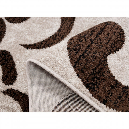 Covor Modern, Cappuccino 16028,  Bej / Maro, 120x170 cm, 1700 gr/mp5
