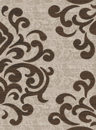 Covor Modern, Cappuccino 16028, Bej / Maro, 60x110 cm, 1700 gr/mp0