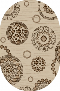 Covor Modern, Daffi 13041, Bej, Oval, 160x230 cm, 1800 gr/mp0