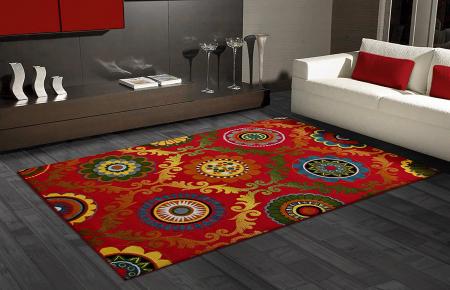Covor Modern, Kolibri Baroque, Rosu, 80x150 cm, 2300 gr/mp2