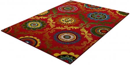 Covor Modern, Kolibri Baroque, Rosu, 80x150 cm, 2300 gr/mp1