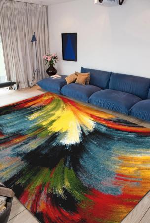 Covor Modern, Kolibri Brush 11017, Multicolor, 120x170 cm, 2300 gr/mp [4]