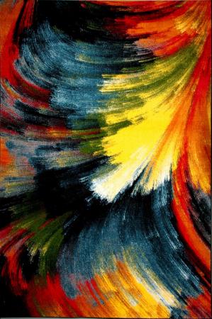 Covor Modern, Kolibri Brush 11017, Multicolor, 120x170 cm, 2300 gr/mp [0]