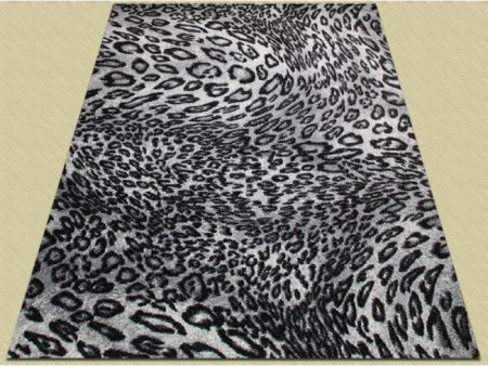 Covor Modern, Kolibri Leopard 11066, Alb / Negru, 160x230 cm, 2300 gr/mp2