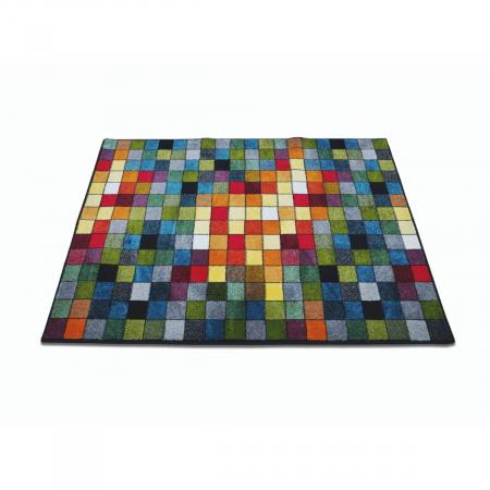 Covor Kolibri Patratele 11161-130, Multicolor, 80x150 cm, 2300 gr/mp2