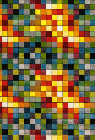 Covor Kolibri Patratele 11161-130, Multicolor, 80x150 cm, 2300 gr/mp0