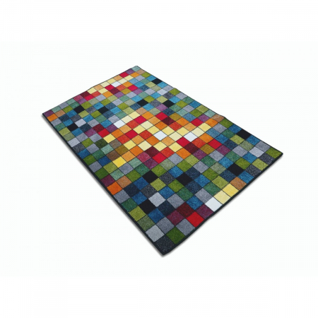Covor Kolibri Patratele 11161-130, Multicolor, 80x150 cm, 2300 gr/mp3
