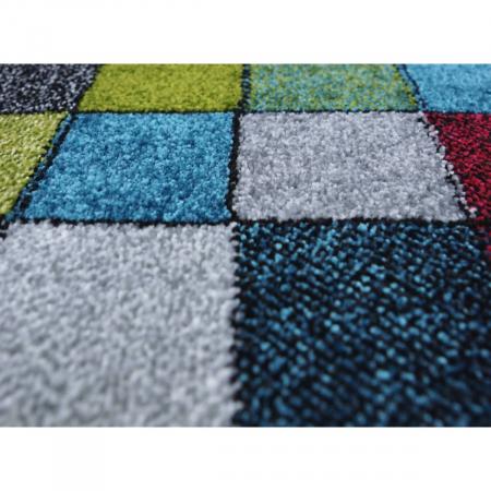 Covor Kolibri Patratele 11161-130, Multicolor, 80x150 cm, 2300 gr/mp7