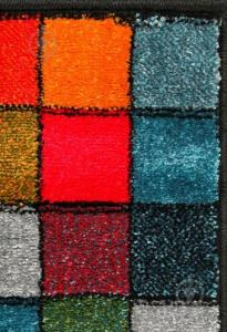 Covor Kolibri Patratele 11161-130, Multicolor, 80x150 cm, 2300 gr/mp4
