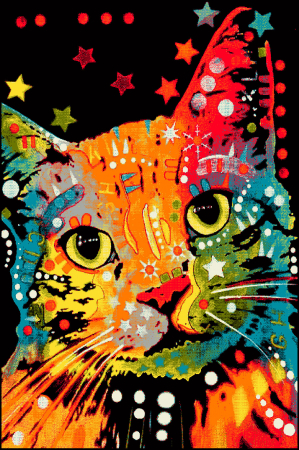 Covor Kolibri Pisica 11011, Multicolor, 80x150 cm, 2300 gr/mp [0]