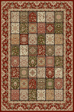 Covor Modern, Lotos 1518, Rosu, 80x200 cm, 1800 gr/mp0
